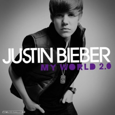 justin bieber cd my world 2.0. justin bieber album cover my